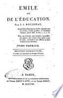 Emile ou De l education par J  J  Rousseau     Tome premier   troisieme