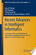Recent Advances in Intelligent Informatics