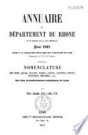 Annuaire administratif et commercial de Lyon et du département du Rhône