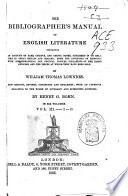 The Bibliographer's Manual of English Literature