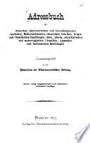 Adreßbuch der deutschen, schweizerischen und luxemburgischen Apotheken, Medizinalbeamten