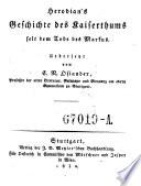 Herodian's Geschichte des Kaiserthums seit dem Tode des Markus. Uebersetzt von C. N. Osiander