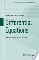 Differential Equations  Methods and Applications