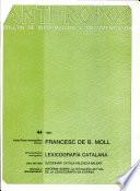 Francesc de B  Moll