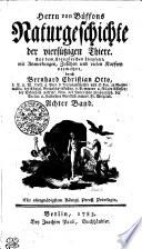 Herrn von Buffons Naturgeschichte der vierfüssigen Thiere