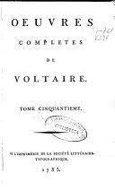 Oeuvres de Voltaire, Commentaires, tome troisième