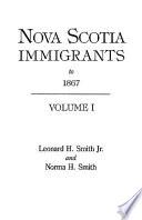 Nova Scotia Immigrants to 1867