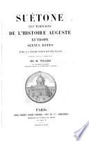 Suetone  les ecrivains de l histoire auguste avec la traduction en francais