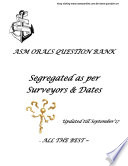 www owaysonline com ASM   MASTERS   ORALS QUESTION BANK SEGREGATED AS PER SURVEYORS www owaysonline com