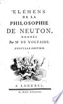 illustration Éléments de la philosophie de Newton