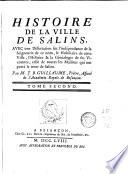 Histoire généalogique des sires de Salins au comté de Bourgogne