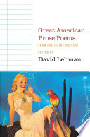 Great American Prose Poems