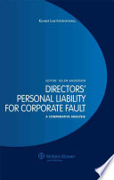 Directors  Personal Liability for Corporate Fault
