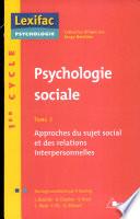illustration du livre Psychologie sociale