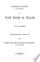 Biennial Reports on Vital Statistics of the State of Minnesota for the Years