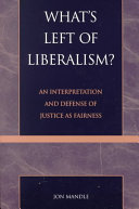 Ebook What's left of liberalism? Epub Jon Mandle Apps Read Mobile
