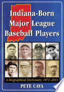 Indiana Born Major League Baseball Players