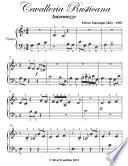 Cavalleria Rusticana Beginner Piano Sheet Music