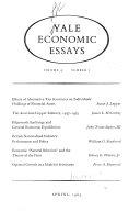 Yale Economic Essays