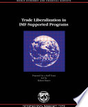 Trade Liberalization in Fund Supported Programs