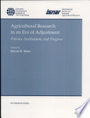 Agricultural Research in an Era of Adjustment