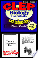 CLEP Biology Test Prep Review  Exambusters Flash Cards