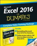 Excel 2016 For Dummies Book   Online Videos Bundle