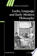 Locke  Language and Early Modern Philosophy