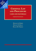 Criminal Law and Procedure  Cases and Materials   Casebookplus
