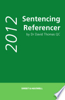 Sentencing Referencer 2012 print and eBook