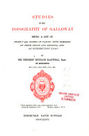 Studies in the Topography of Galloway