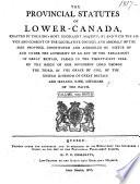 Statuts provinciaux de Bas-Canada