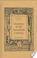 Erasmus in the Twentieth Century