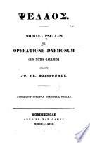 De operatione daemonum cum notis Gaulmini curante Jo. Fr. Boissonade