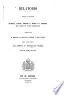 Relatorio sobre as colonias Blumenau