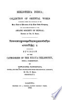 Division Of The Categories Of The Ny Ya Philosophy book