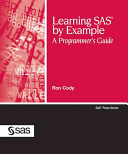 Ebook Learning SAS by Example Epub Ronald P. Cody,Ron Cody Apps Read Mobile