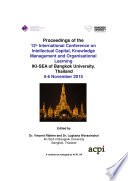 ICICKM2015-12th International Conference On Intellectual Capital Knowledge Management & Organisational Learning : ...