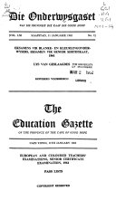 The Education Gazette Of The Province Of The Cape Of Good Hope book