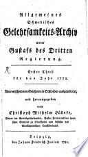 Allgemeines schwedisches Gelehrsamkeits Archiv