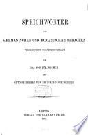 Sprichw  rter der germanischen und romanischen Sprachen