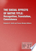 The Social Effects of Native Title