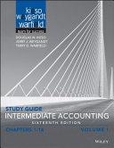 Intermediate Accounting  Sixteenth Edition Volume 1 Study Guide