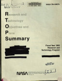 Research and Technology Objectives and Plans Summary  RTOPS