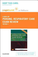 Respiratory Care Exam Review Pageburst E book on Vitalsource Retail Access Card