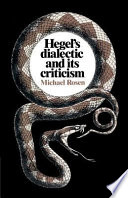 Hegel s Dialectic and Its Criticism