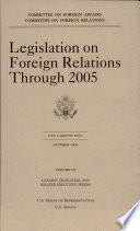 Legislation on Foreign Relations through 2005  V  3  Current Legislation and Related Executive Orders