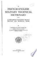 A French English Military Technical Dictionary