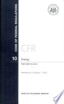 Code Of Federal Regulations Title 10 Energy Pt 500 End Revised As Of January 1 2012