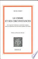 Le crime et ses circonstances